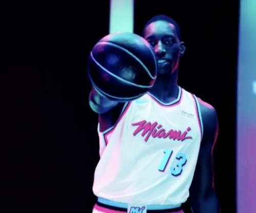 Miami Heat channel 1980s with Vice uniforms