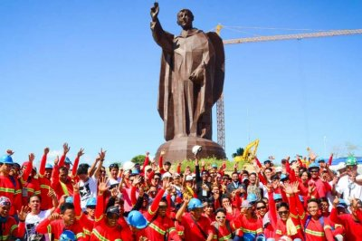 Bamboo statue of Catholic saint in Philippines is world's tallest