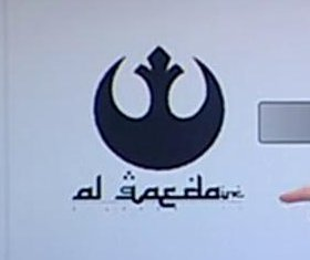 Spanish TV reporter confuses 'Star Wars' symbol for al-Qaida logo
