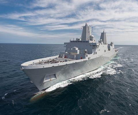 HII delivers amphibious landing dock to U.S. Navy