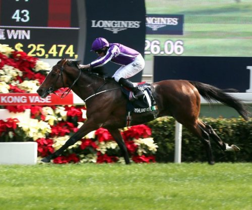UPI Horse Racing Roundup: Highland Reel wins in Hong Kong, Orfevre gets first Group 1 win