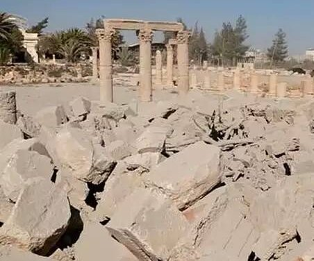Drone video suggests Islamic State plans further destruction of Palmyra, Syria
