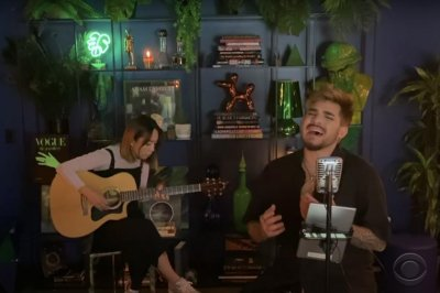 Adam Lambert performs acoustic 'On the Moon' on 'Late Late Show'