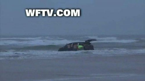 Woman who drove van into ocean could face charges