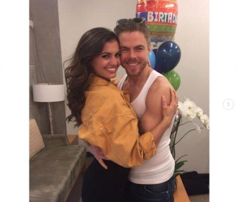 Derek Hough celebrates 32nd birthday with girlfriend Hayley Erbert