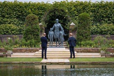 Britain's Prince William, Harry unite to unveil statue of Princess Diana