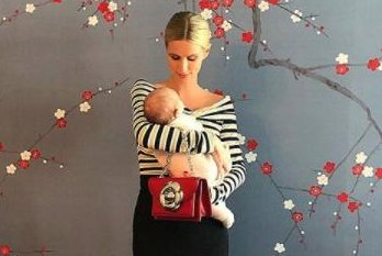 Nicky Hilton cuddles newborn daughter Teddy in photo