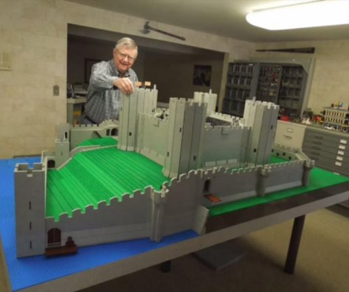 Wales' Rhuddlan Castle recreated from 50,000 Lego bricks