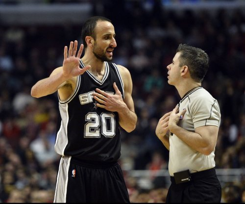 Spurs G Manu Ginobili (hip) will miss two games