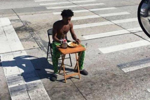 Florida man charged after eating pancakes in busy intersection