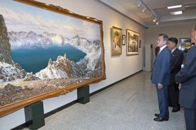 South Korean businessmen purchased paintings at sanctioned art studio in North Korea