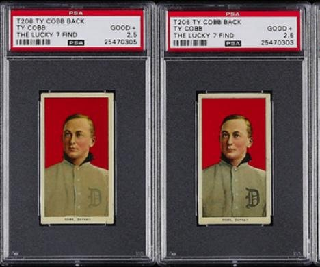 Ty Cobb baseball cards from 1909-11 set found in trash-bound paper bag