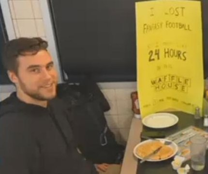 Fantasy football loser spends nearly 24 hours in Waffle House
