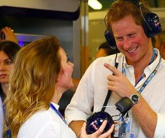 Geri Halliwell enjoys F1 qualifying race with Prince Harry