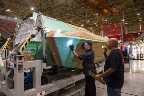Northrop Grumman produces center fuselage for Japanese F-35