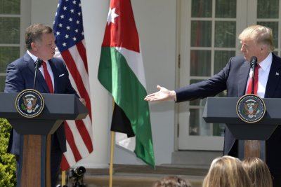 Trump, Jordan's King Abdullah tout partnership in fighting terrorism