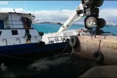 Cargo ship with 600 gallons of oil overturns in Galapagos