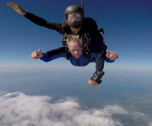 88-year-old 'crazy granny' crosses skydiving off bucket list