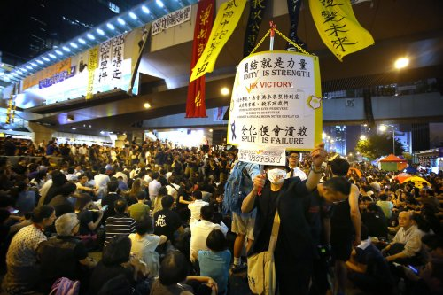 Hong Kong leader offers talks, but no concessions