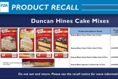 Duncan Hines recalls cake mixes over Salmonella concerns