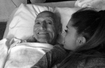 Ariana Grande 'beyond broken' over grandfather's death