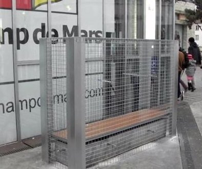 French town removes anti-homeless bench cages