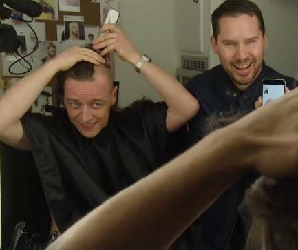 James McAvoy shaves head for 'X-Men: Apocalypse' in new video