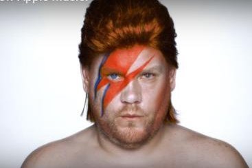 James Corden channels Bowie in new Apple Music ad
