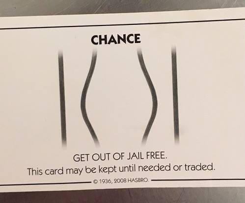 Suspect handed deputy 'Get out of jail free' Monopoly card during arrest