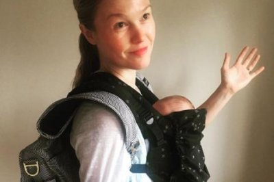 Julia Stiles shares first photo with son Strummer