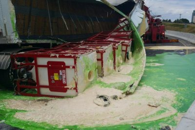 Mayo and salad dressing spill onto Canadian highway after truck rollover