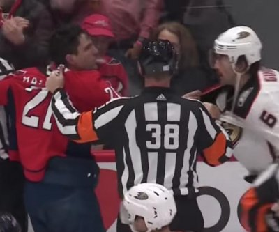 Capitals' Garnet Hathaway ejected for spitting on Ducks' Erik Gudbranson