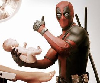 Ryan Reynolds delivers baby as Deadpool in new photo