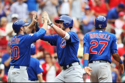 Chicago Cubs' Kris Bryant has giant night with three HRs, two doubles