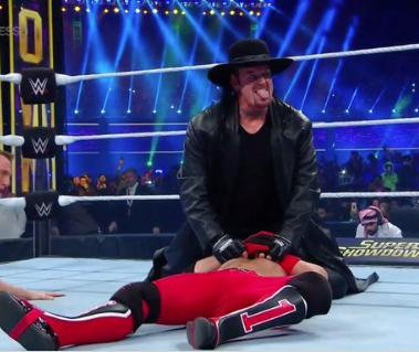 WWE Super ShowDown: The Undertaker confronts AJ Styles