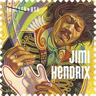 Jimi Hendrix honored on new USPS stamp