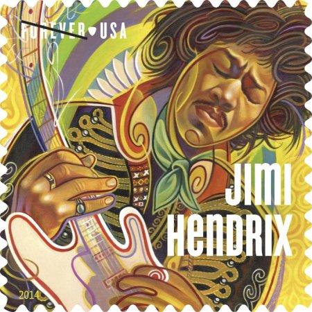 Jimi Hendrix honored on new USPS stamp