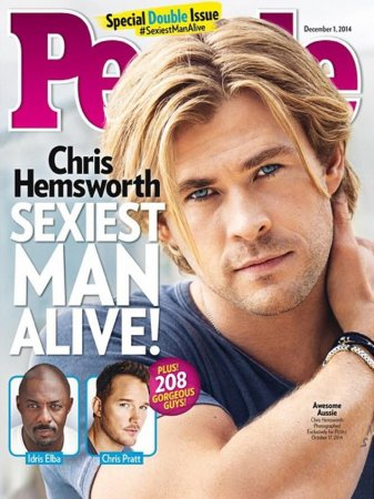Chris Hemsworth named People's 'Sexiest Man Alive' for 2014