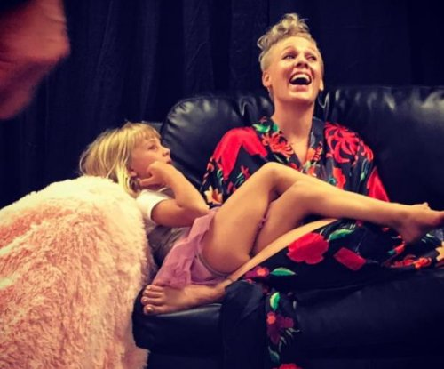 Pink celebrates with daughter after first concert in four years