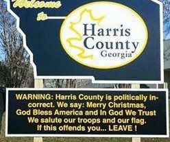 Sheriff: 'Politically incorrect' sign meant to spur 'belief and patriotism'