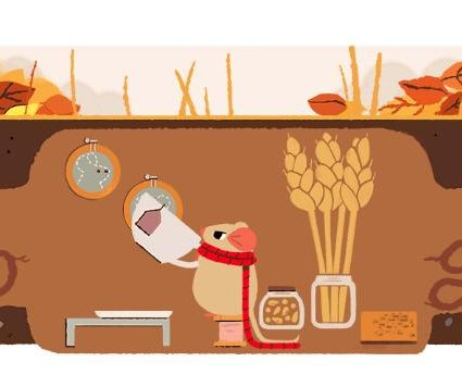 Google celebrates the fall and spring equinox with weather-themed Doodles