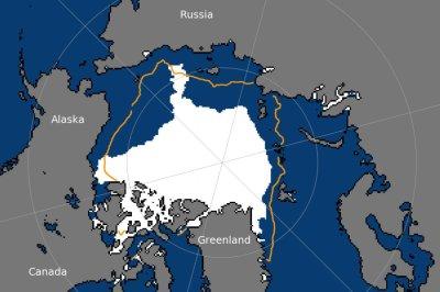 Arctic sea ice shrunk to sixth lowest summertime minimum extent