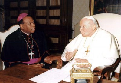 Most of Pope John Paul II relic found after teens stole it from church