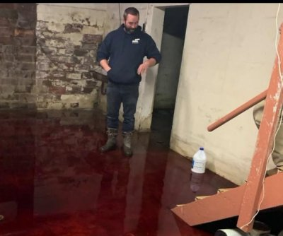 Iowa family's basement flooded with animal blood