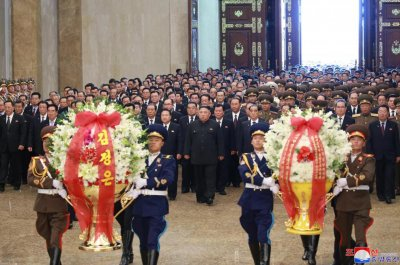 North Koreans stop activity for Kim Il Sung anniversary