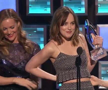 Dakota Johnson had onstage wardrobe malfunction at PCAs