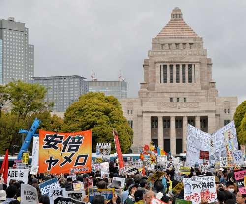 Thousands rally against Japan's PM Shinzo Abe