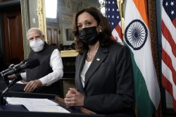 VP Harris holds historic meeting with Indian PM Modi