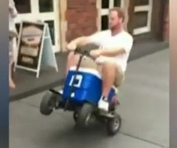 Australian man pleads guilty to driving motorized cooler while drunk