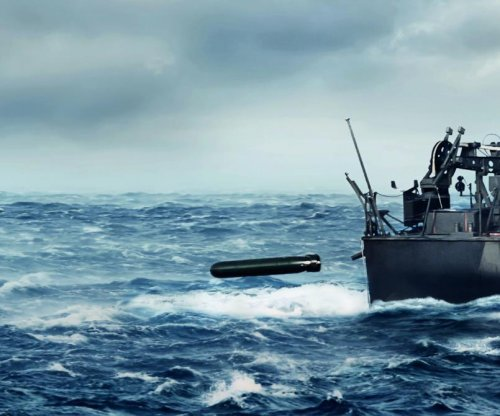 Saab displays new lightweight torpedo